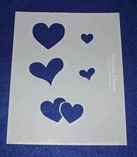 3 Piece Valentines Stencil Set