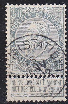 BELGIEN BELGIUM [1897] MiNr 0068 ( O/used )