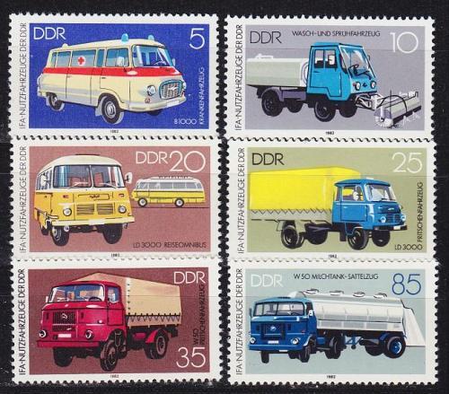 GERMANY DDR [1982] MiNr 2744-49 ( **/mnh ) Autos