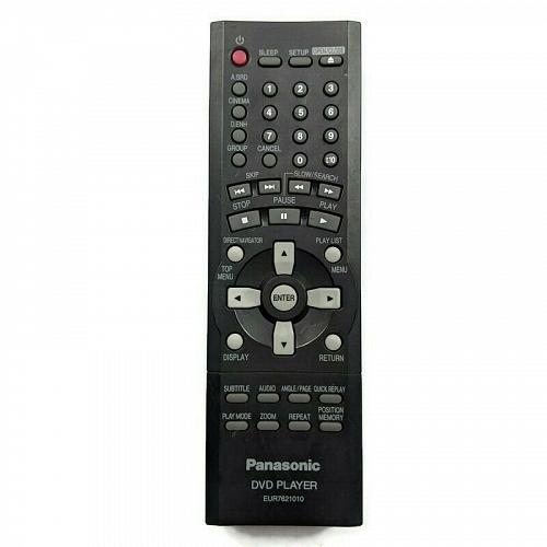 Genuine Panasonic DVD Remote Control EUR7621010 Tested Working