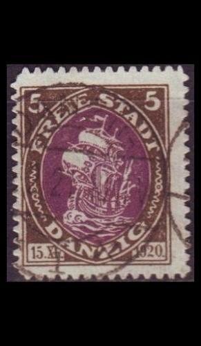 GERMANY REICH Danzig [1921] MiNr 0053 ( OO/used )