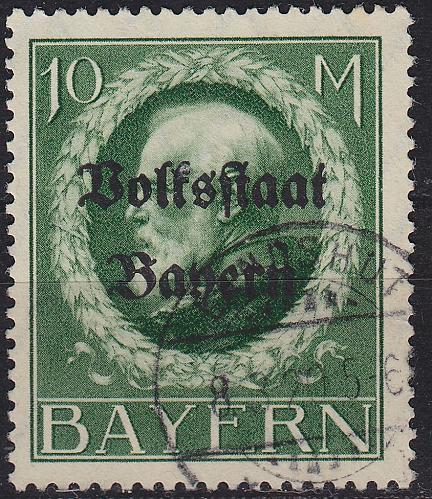 GERMANY Bayern Bavaria [1919] MiNr 0132 II A ( O/used ) [01]