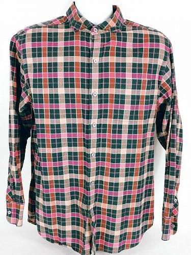 Tommy Bahama Men's Button Down Shirt Size Medium Plaid Long Sleeve