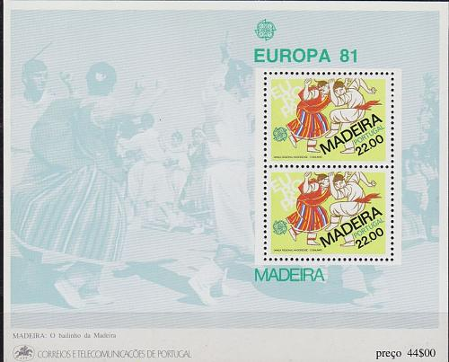 PORTUGAL [Madeira] MiNr 0070 Block 2 ( **/mnh ) CEPT