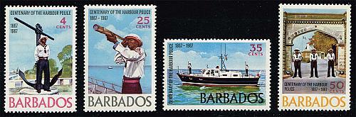 Barbados #294-297 Bridgetown Harbor Police; Unused (3Stars) |BAR0297set-01