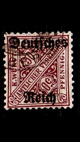 GERMANY REICH Dienst [1920] MiNr 0063 ( O/used )