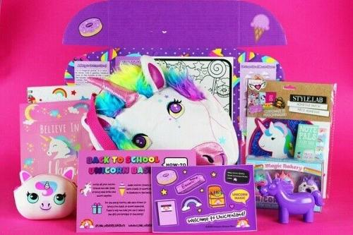Unicorn fans kit gift set deluxe 10-15 items crate box Free Shipping