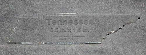 """State of Tenessee Template 6.5"""" X 1.6"""" - Clear ~1/4"""" Thick Acrylic"""