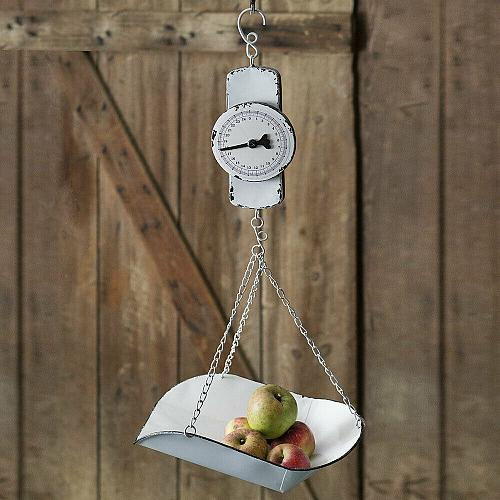 Hanging Decorative Farmhouse Country Vintage Style Produce Scale Display Holder