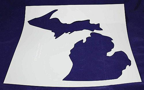"State of Michigan Stencil-Mylar 14 Mil -19""H X 17.5""W - Painting /Crafts/ Templa"