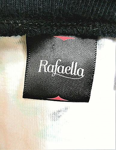 RAFAELLA womens XL 3/4 sleeve blue pink white FLORAL button up STRETCH top (B6)P