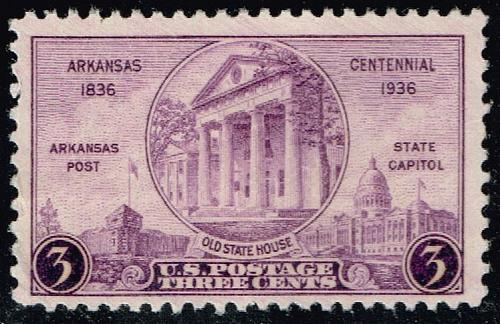 US #782 Arkansas Centennial; Used (2Stars) |USA0782-09