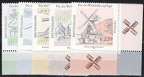 GERMANY BUND [1997] MiNr 1948-52 ( **/mnh ) Bauwerke