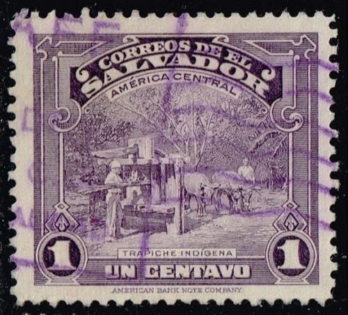 El Salvador #574 Indian Sugar Mill; Used (0.25) (1Stars)  ELS0574-02
