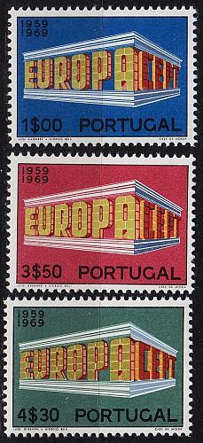 PORTUGAL [1969] MiNr 1070-72 ( **/mnh ) CEPT