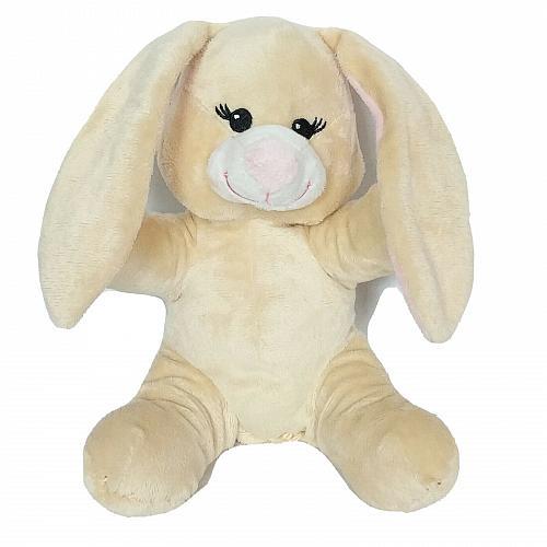 "Colorbok Easter Bunny Spring Rabbit Cream Plush Stuffed Animal 9"""