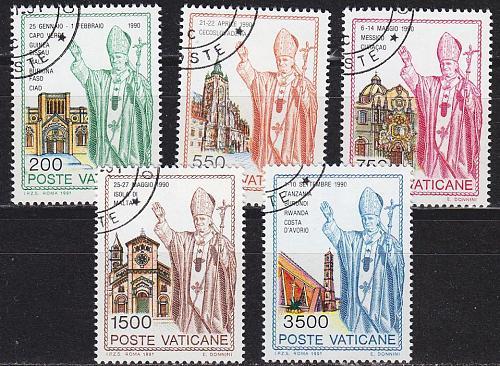 VATIKAN VATICAN [1991] MiNr 1046-50 ( O/used )