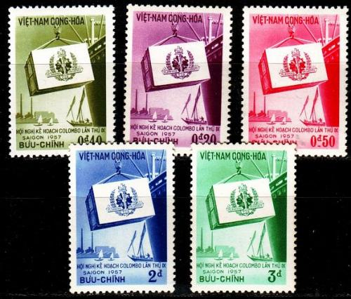 VIETNAM SÜD SOUTH [1957] MiNr 0140-44 ( **/mnh )