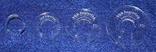 """4 Hopper Foot Offsets for 1/2"""" Foot - Thin 1/8"""" Version Template - Quilting"""