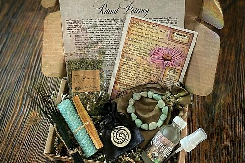 The witch wicca craft moon crate kit box gift set witchcraft free delivery