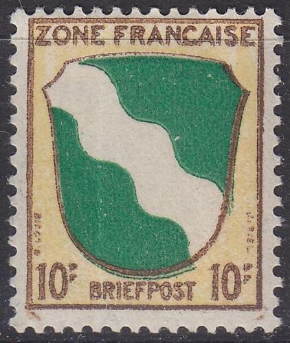 GERMANY Alliiert Franz. Zone [Allgemein] MiNr 0005 ( */mh )