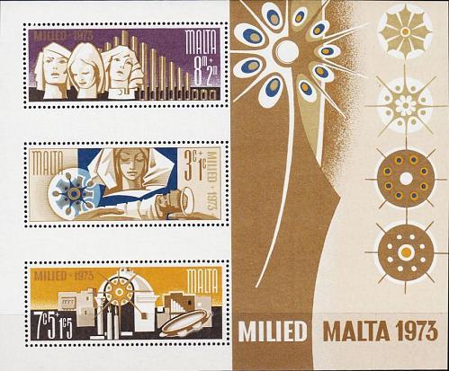 MALTA [1973] MiNr 0478-80 Block 3 ( **/mnh ) Weihnachten