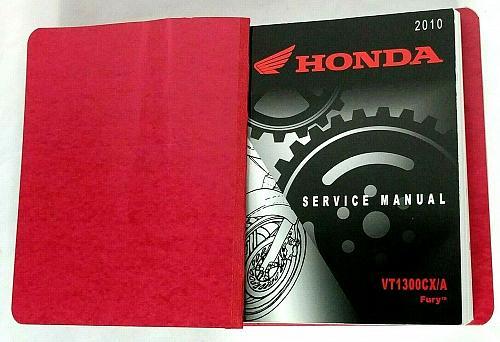 2010 Honda Model VT1300CX/A Fury Motorcyle Shop Service Repair Manual