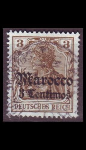 GERMANY REICH Kolonien [Marokko] MiNr 0034 ( O/used )