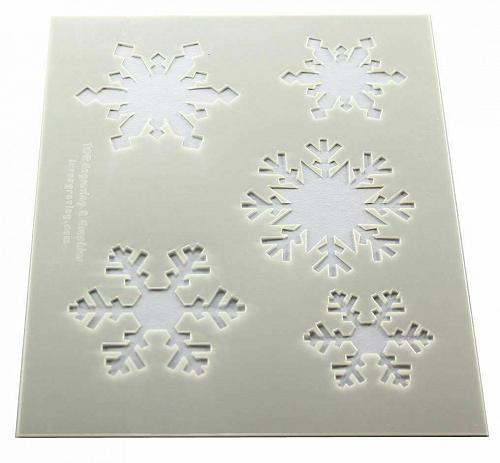"""Snowflake Stencils -Mylar 2 Pieces of 14 Mil 8"""" X 10"""" - Painting /Crafts/ Templa"""