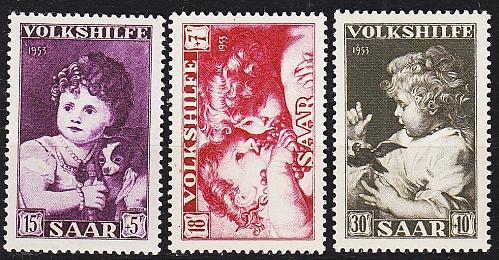 GERMANY Saar [1953] MiNr 0344-46 ( */mh )