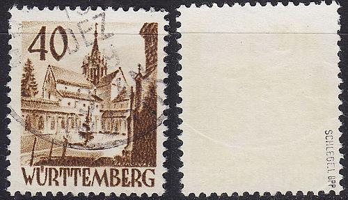 GERMANY Alliiert Franz. Zone [Württemberg] MiNr 0035 ( O/used ) [01] geprüft