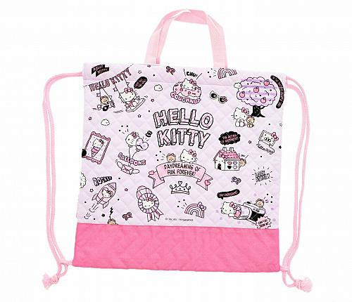 New Hello Kitty Drawstring Bag: Quilted Sanrio Free Shipping