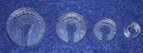 """4 Hopper Foot Offsets For 1/4"""" Foot - Template - Quilting"""