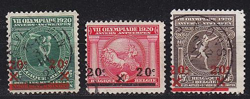 BELGIEN BELGIUM [1921] MiNr 0162-64 ( O/used ) Olympiade