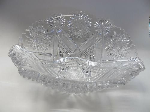 American Brilliant Period Cut Glass Napoleon hat