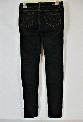 LOVE CULTURE womens Sz 1 W27 L30 black denim dark wash STRETCH jeans (B5)