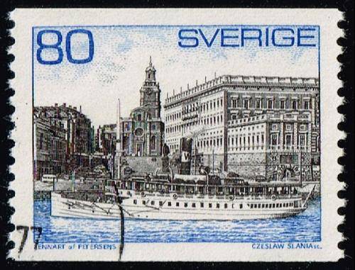 Sweden #749 Steamer and Royal Palace; Used (5Stars) |SVE0749-05