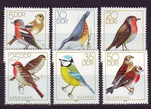 GERMANY DDR [1979] MiNr 2388-93 ( **/mnh ) Vögel