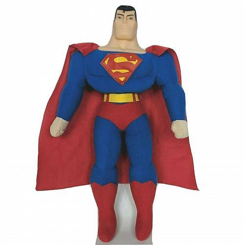 """Justice League Toy Factory Superman Plush Plastic Face 16.5"""""""