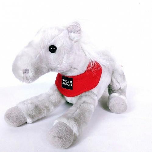"Wells Fargo 2013 Legendary Pony Shamrock Plush Stuffed Animal 15"""