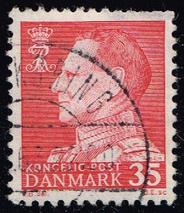 Denmark #387 King Frederik IX (non-fluor); Used (0.25) (1Stars)  DEN0387ord-02
