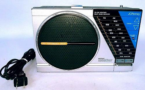 Vintage JCPenney AM FM Weather Radio Portable 680-1001 Working