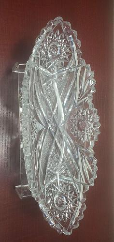 ABP cut glass celery ANTIQUE