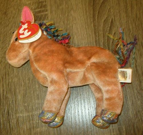 """Ty HORSE Chinese Zodiac 7"""" Beanie Baby 2000 with Original Tag"""
