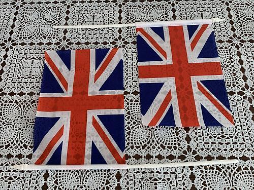 Set of 2 Novelty 8 x 5 Inch British Union Jack UK Great Britain Stick Flags