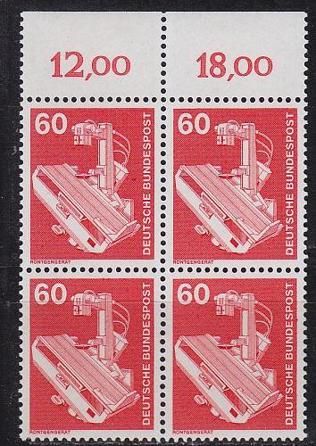 GERMANY BUND [1978] MiNr 0990 4er ( **/mnh ) Industrie