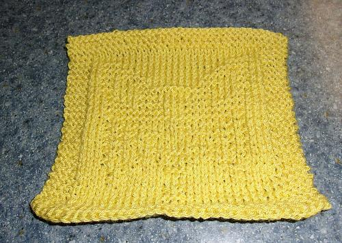 Brand New Hand Knit Papillon Dog Yellow Cotton Dish Cloth 4 Dog Rescue Charity