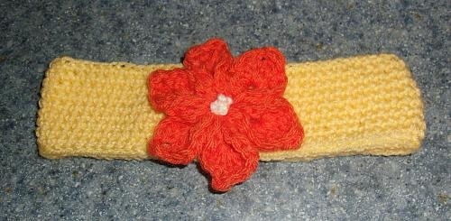 Brand New Crocheted Yellow Flower Design Dog Collar LARGE For Dog Rescue Charity