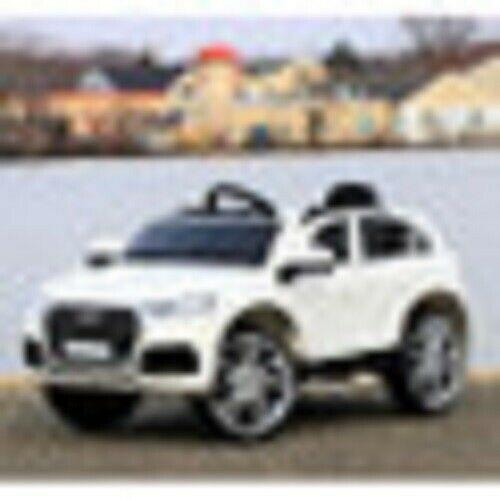 First Drive Audi Q5 Kids Electric Ride On Sport Car with Remote Control, White