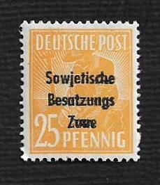 German MNH Scott #10N10 Catalog Value $.64